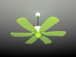 Green Ceiling Fan 3d preview