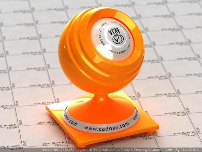 Hot Rod Orange Paint material rendering