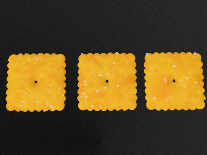 Soda Crackers Biscuits 3d rendering