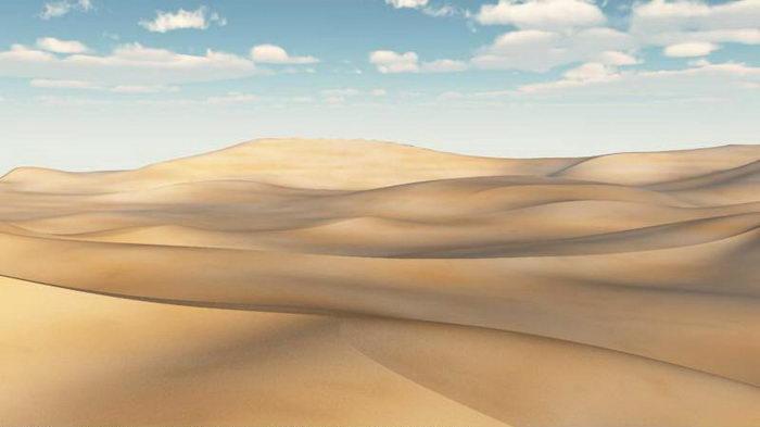 Desert Scene 3d rendering