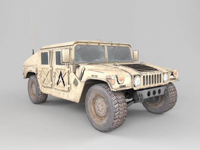 Military Hummer Humvee 3d rendering