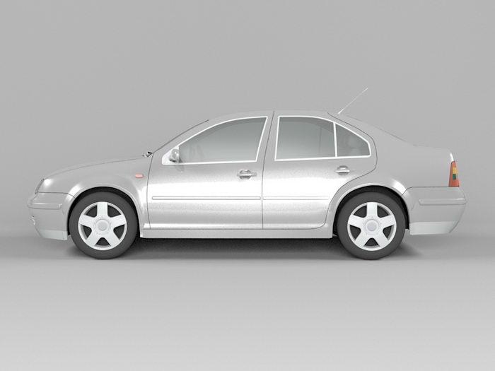 Volkswagen City Jetta 3d rendering