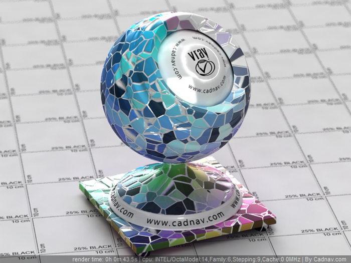 Colorful Mosaic Tile material rendering