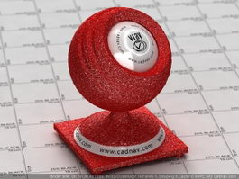 Glitter Red Wallpaper vray material