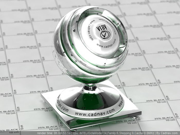 Polished Plate Glass material rendering