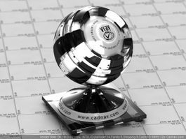 Glass Checker Line vray material