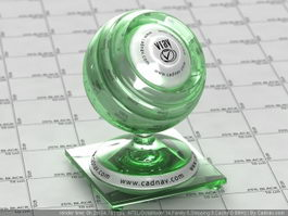 Green Bottle Glass vray material
