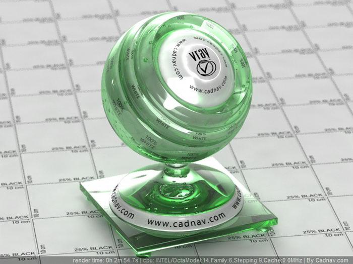 Green Bottle Glass material rendering