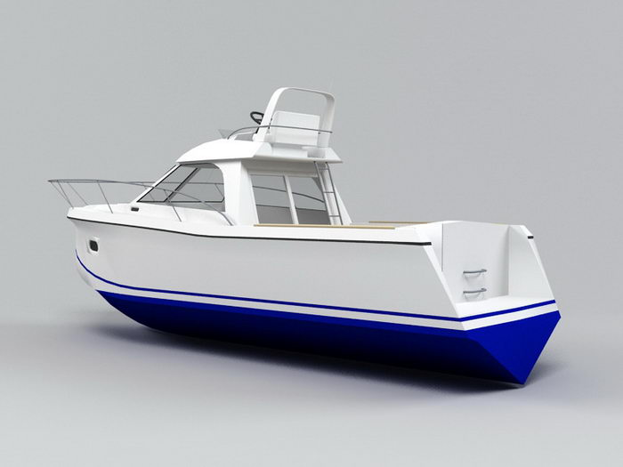 Small Motorboat 3d rendering