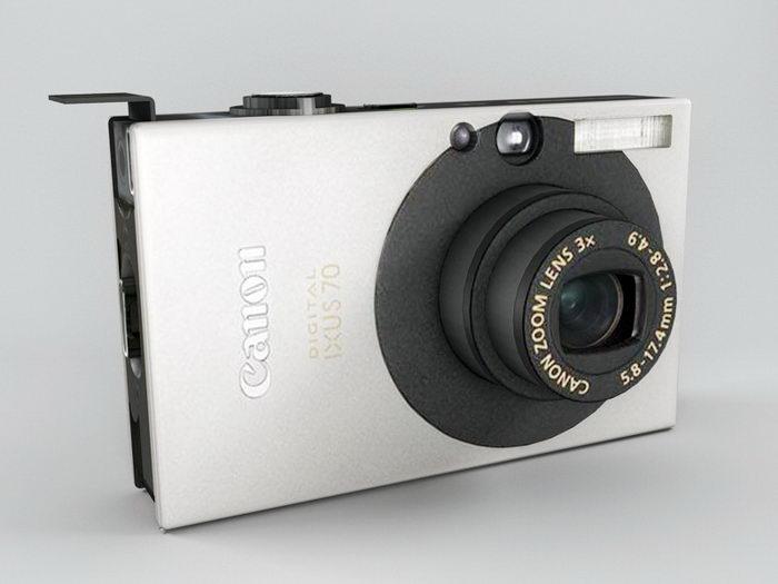 Canon Digital IXUS70 Camera 3d rendering