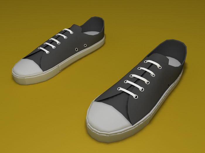 Converse Shoes 3d rendering