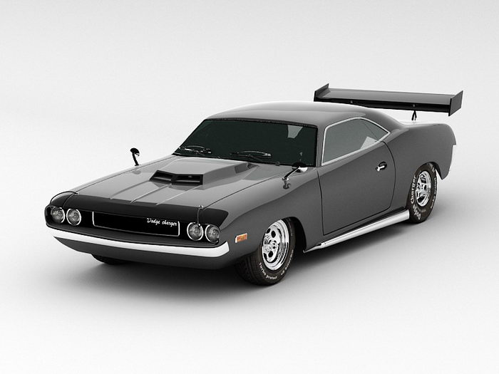 Dodge Charger 3d rendering