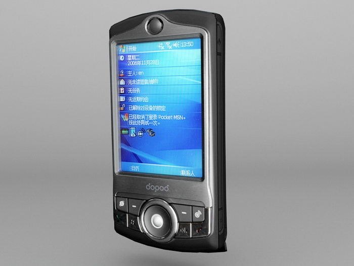 Dopod P802 Windows Mobile Pocket PC PDA 3d rendering
