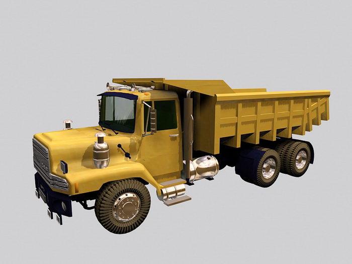 Dumper Truck 3d rendering