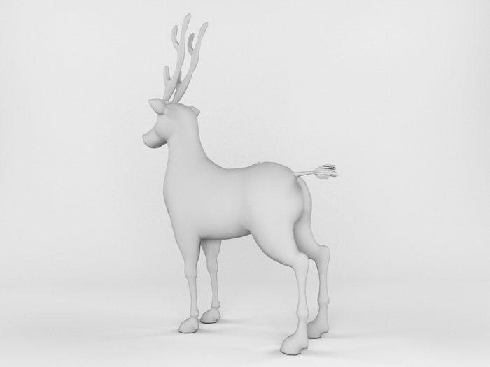 Barasingha Deer 3d rendering