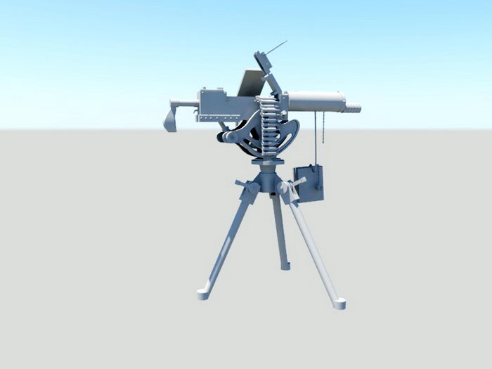 Maxim Machine Gun 3d rendering