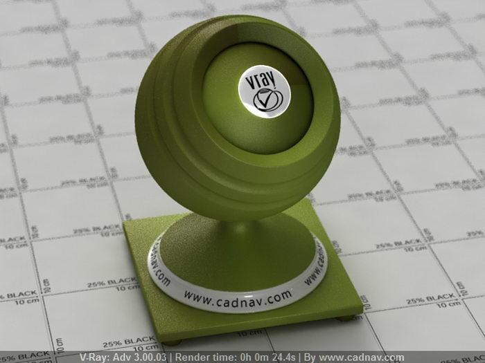 Green Apple material rendering