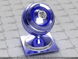 Cobalt Blue Metallic Paint vray material