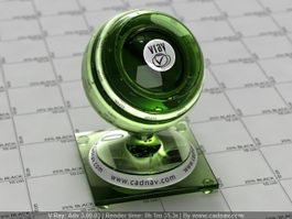 Glass Beer Bottle vray material