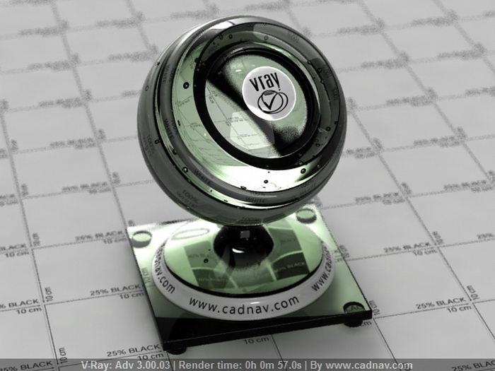 Dark Green Glass Material material rendering