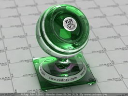 Jade Green Glass vray material