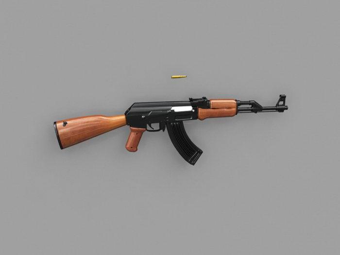 Type 2A AK-47 3d rendering