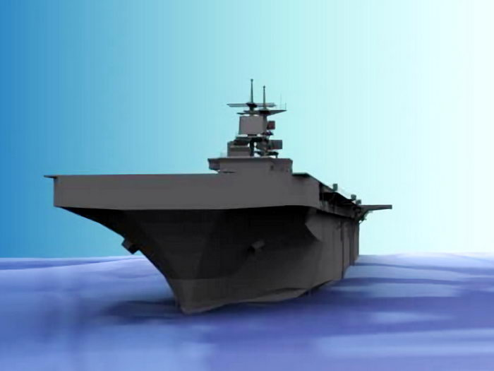 Aircraft Carrier 3d rendering