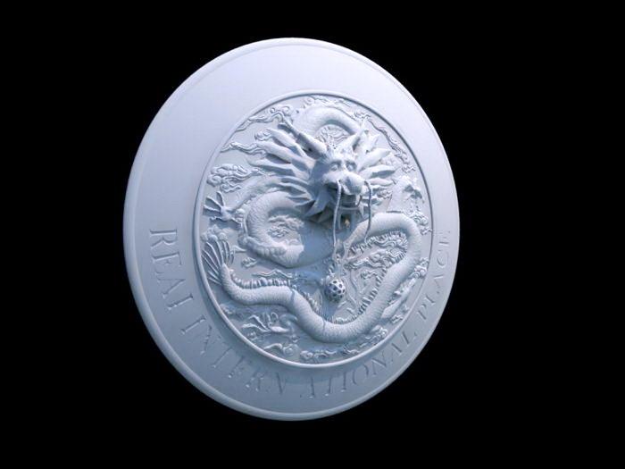 Cool Dragon Shield 3d rendering
