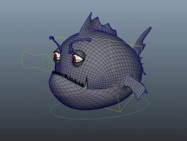 Fish Cartoon Rig 3d preview