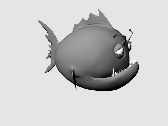 Fish Cartoon Rig 3d rendering