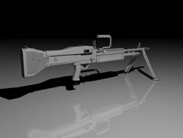 M60 Machine Gun 3d preview