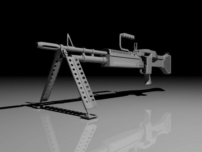 M60 Machine Gun 3d rendering