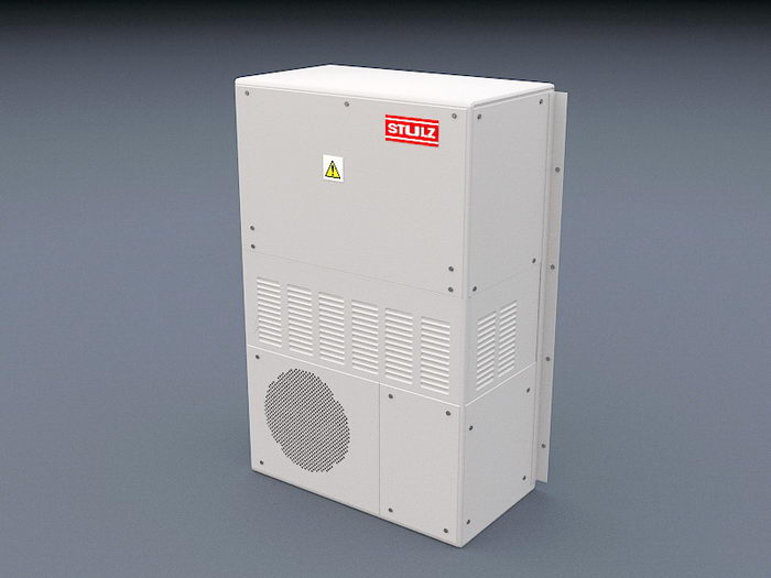 Air Conditioning Condenser Unit 3d rendering