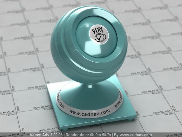 Soft Blue Porcelain material rendering