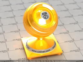 Yellow Pearl High Gloss Carpaint vray material
