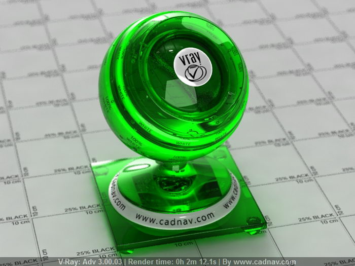 Glass Green Barley Clear material rendering