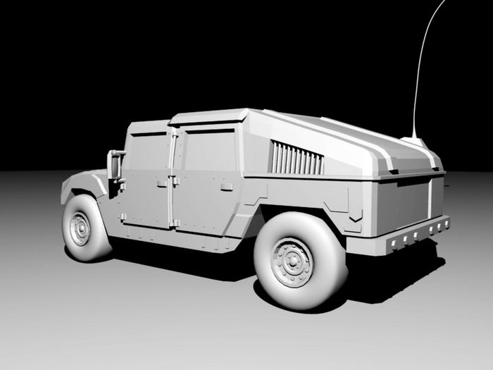 Humvee Military Vehicle 3d rendering