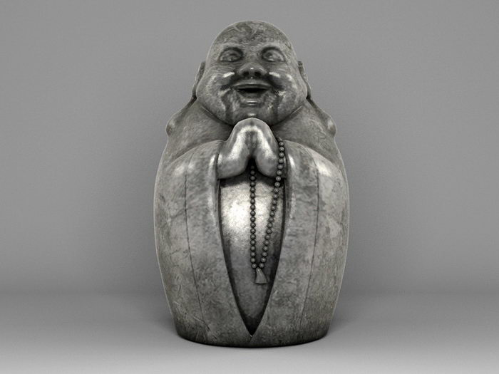 Figure of Buddha 3d rendering
