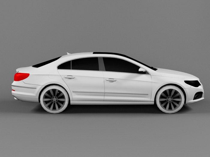 Volkswagen Passat CC 3d rendering