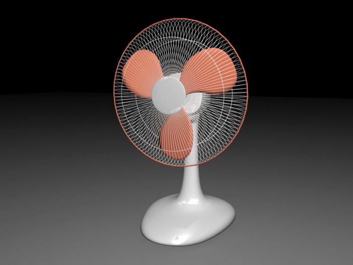 Electric Table Fan 3d rendering