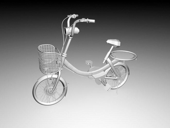 Small Wheeled Bike 3d rendering