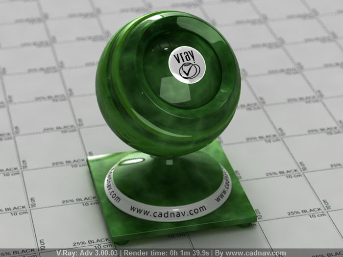 Green Jade Gemstone material rendering
