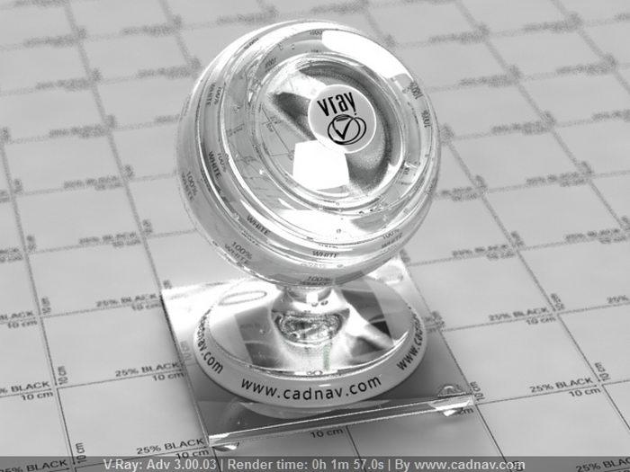 Medium Flint Glass material rendering