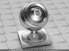 Metal Aluminium Polished vray material