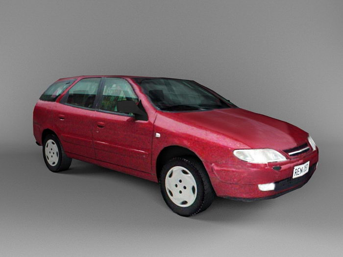 Red Estate Car 3d rendering