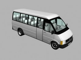 White Minibus 3d preview