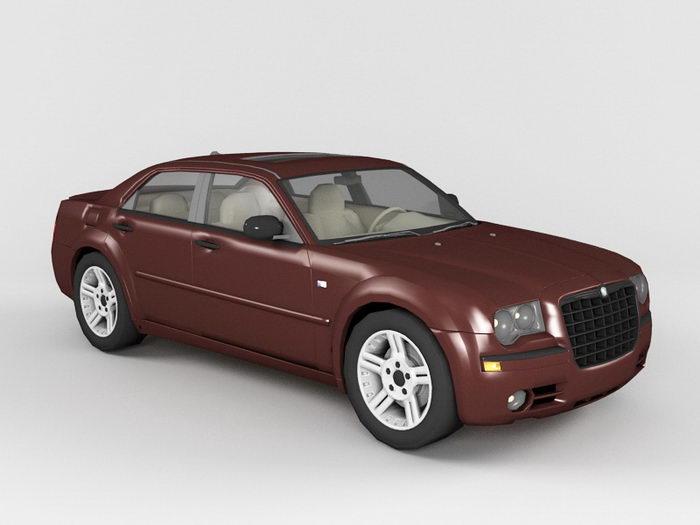 Chrysler 300 Luxury Car 3d rendering