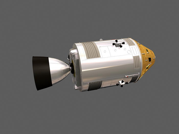 Apollo Command and Service Module 3d rendering