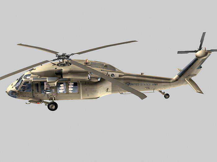 UH-60 Black Hawk 3d rendering