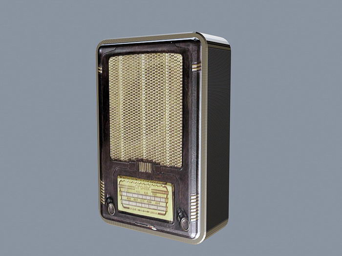 Old Vintage Radio 3d rendering